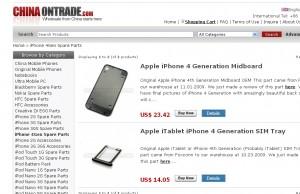 China ontrade verkauft iPhone 4G Erstazteile?