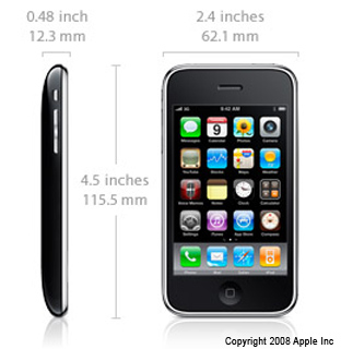 iPhone 3GS Spezifikationen & Dimensionen