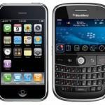 Apple iPhone und RIM Blackberry