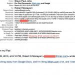 Steve Jobs' Email zur universellen Mailbox für ein zukünftiges iPhone