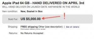 eBay: iPad um 5.000 Dollar verkauft