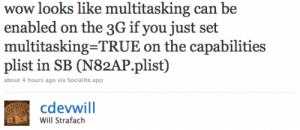 iPhone 3G: Multitasking doch möglich?