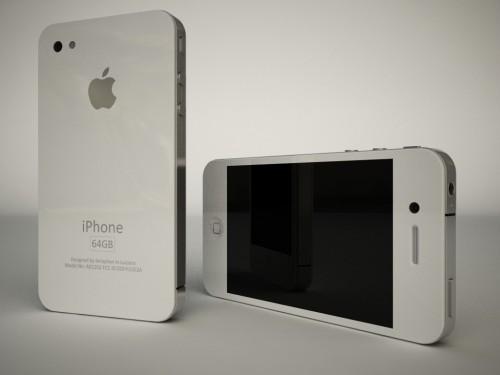 Konzept: iPhone 4G in Weiß