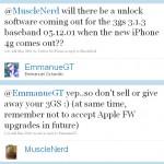 MuscleNerd: iPhone 3GS Unlock für Firmware 3.1.3 in der Arbeit