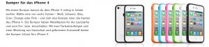 Bumper für das iPhone