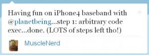 MuscleNerd: Eigener Code am iPhone 4 ausführbar