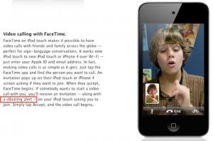 iPod Touch 4G mit Vibration