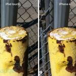 Vergleich: Fotos von iPod Touch 4G und iPhone 4
