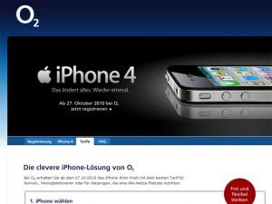 iPhone 4 ab 27.10. auch bei O2 Deutschland