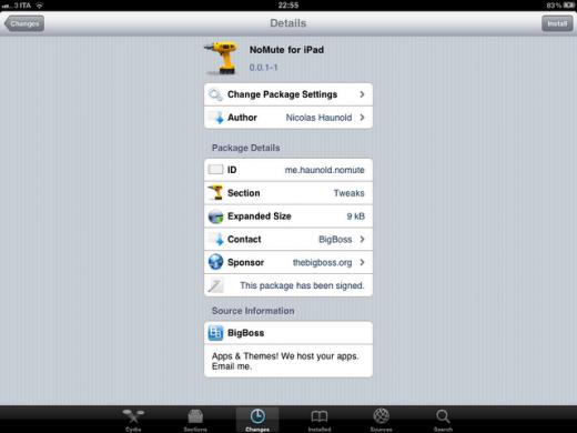 NoMute für iPad