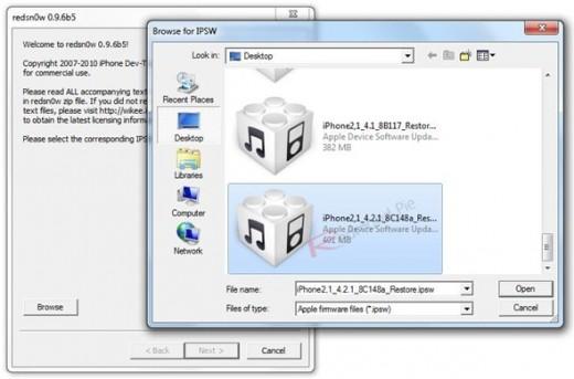 Unlock-Anleitung mit Redsn0w-0.9.6b5