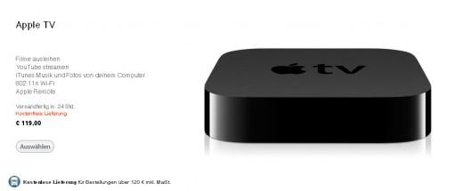 AppleTV 2G jetzt auch im deutschen Sprachraum erhältlich