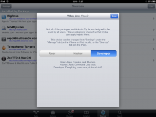Cydia Update Vorschau: iPad Screenshot