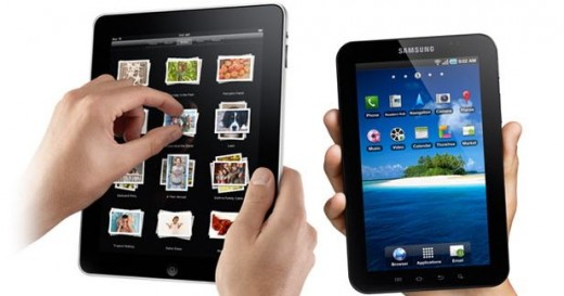 Apple's iPad und das kleinere Samsung Galaxy Tab