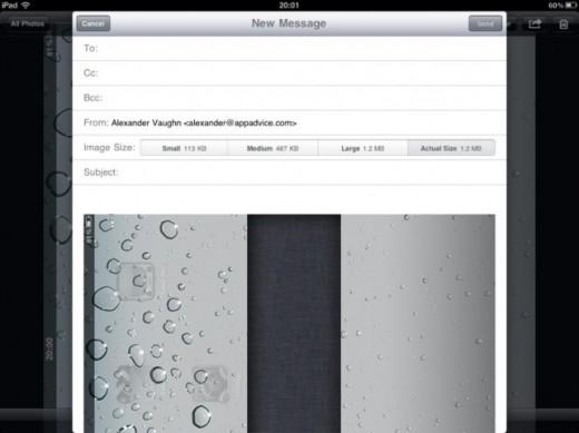 iOS 4.2 am iPad: Bildversand in verschiedenen Größen