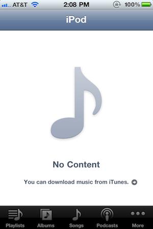 iPhone: Vorübergehender Verlust von Musik in iOS 4.2