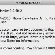 redsn0w 0.9.6b5