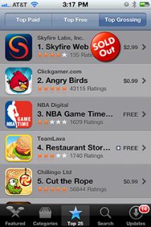 Skyfire vorübergehend wieder aus dem AppStore entfernt