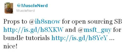 MuscleNerd gratuliert zum neuen Open-Source Status von Sn0wbreeze