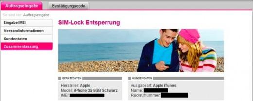 T-Mobile: SIM-Lock Entsperrung online beantragen