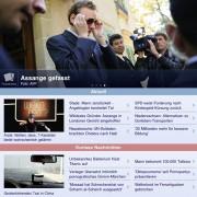 DNews für iPad: Startseite, frei personalisierbar