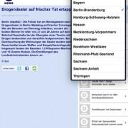 DNews für iPad nach Region filtern
