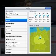 DNews für iPad: Wettervorhersage