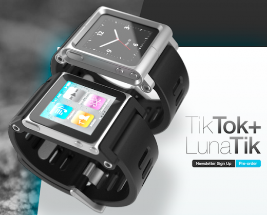 TikTok und LunaTik: Zwei neue Armbänder für den iPod Nano