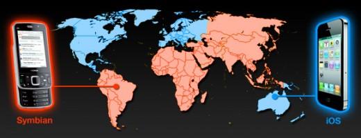 Pingdom Analyse: Mobile Betriebssysteme weltweit