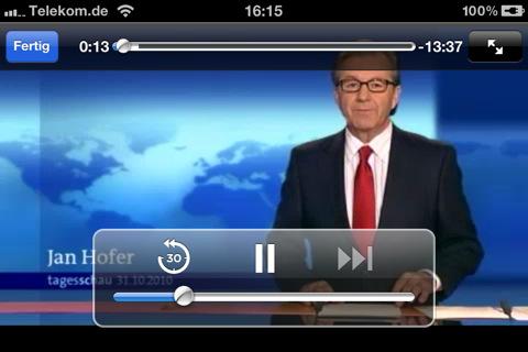 Die umstrittene Tagesschau-App des ARD ist im AppStore