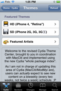 Neu in Cydia: Theme Center