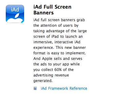 iOS 4.3: iAds mit neuem Vollbild-Modus