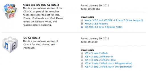 iOS 4.3b2