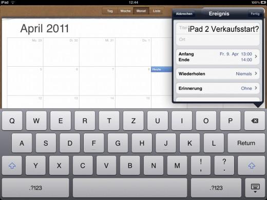 iPad 2: Verkaufsstart Anfang April?