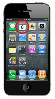 iPhone 4 Kalender in iOS 4.3