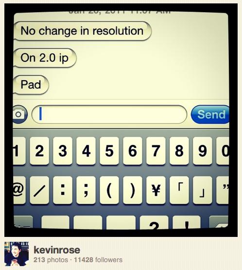 Kevin Rose erneut zur iPad 2 Auflösung