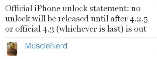 MuscleNerd erteilt iPhone 4 Unlock unter iOS 4.1 und 4.2 eine Absage