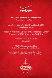 Verizon: Einladung zu Keynote am 11.01.