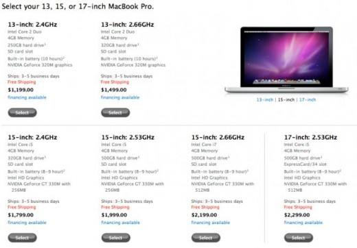 Screenshot des MacBook Pro im Apple Store