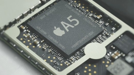 Apple A5 closeup