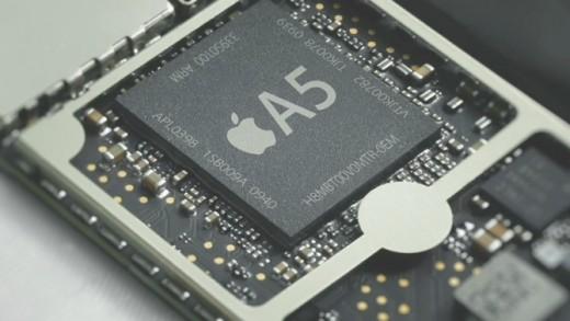 Apple A5 closeup