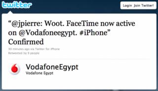 Tweet von VodafoneEgypt