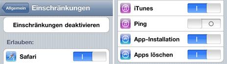 Ping Benachrichtigungen in iOS 4.3 deaktivieren