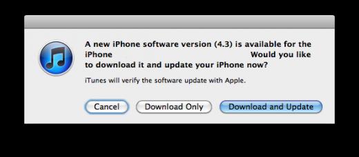 Download von iOS 4.3