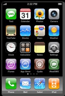"""1. Schritt: Am Homescreen """"Einstellungen"""" (engl. Settings) antippen."""