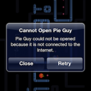 "Offline ""Homescreen Web App"" Pie Guy in iOS 4.3"