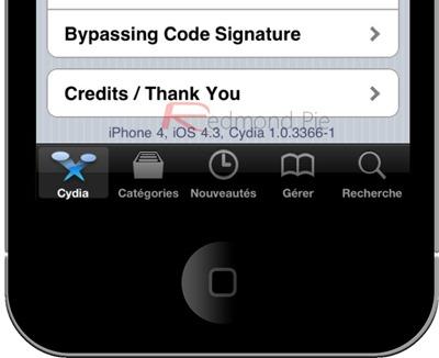 12. Schritt: Nach kurzer Zeit sollte das iPhone, iPad oder der iPod Touch vollständig (und jailbroken) gestartet sein.