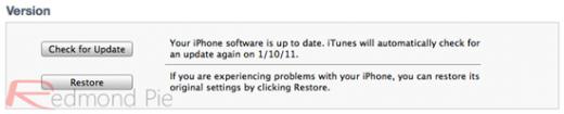 """8. Schritt: Jetzt iTunes starten und in der Sidebar das gewünschte iOS-Gerät anklicken. Jetzt die linke Großschreibtaste (""""Shift"""") drücken und halten, und """"Wiederherstellen"""" (Restore) auswählen (nicht """"Update"""" oder """"Nach Updates suchen"""")."""