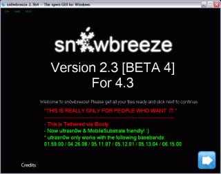 Sn0wbreeze 2.3b4: Jailbreak für iPhone 4 & Co. mit iOS 4.3