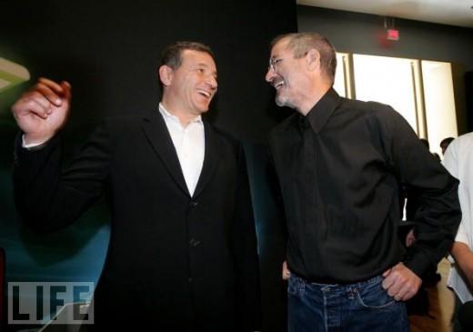 Steve Jobs und Disney CEO Bob Iger